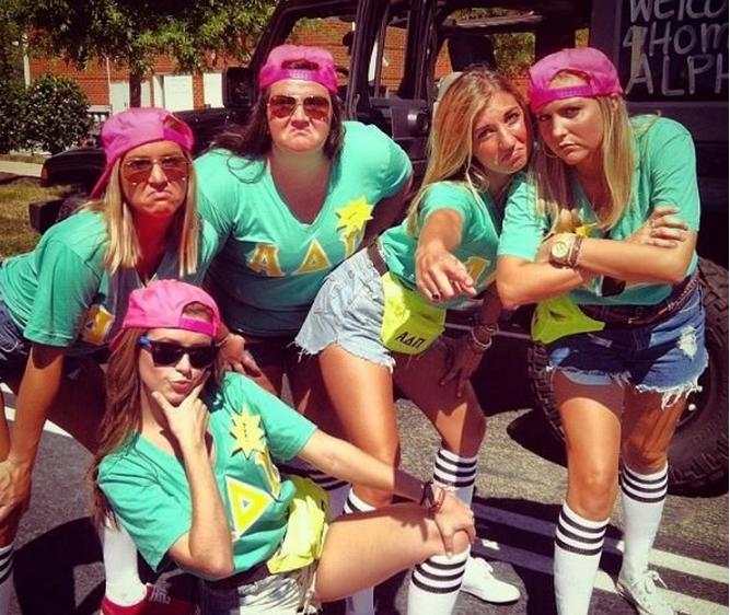 Sorority girls Alpha Delta Pi