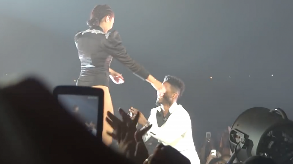 beyoncé backup dancer proposal