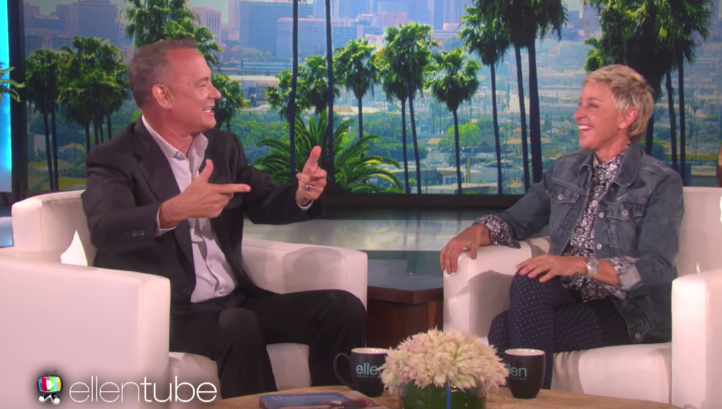 Tom Hanks Talks On Ellen