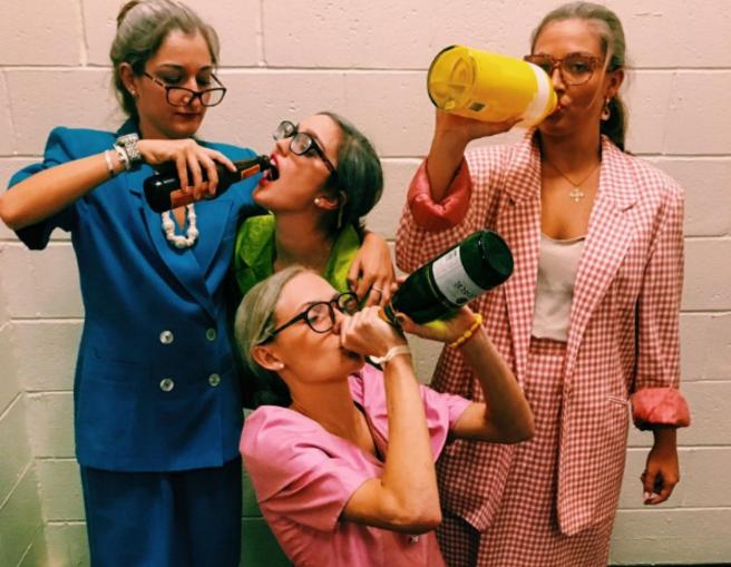 Sorority girls dressed as grandmas