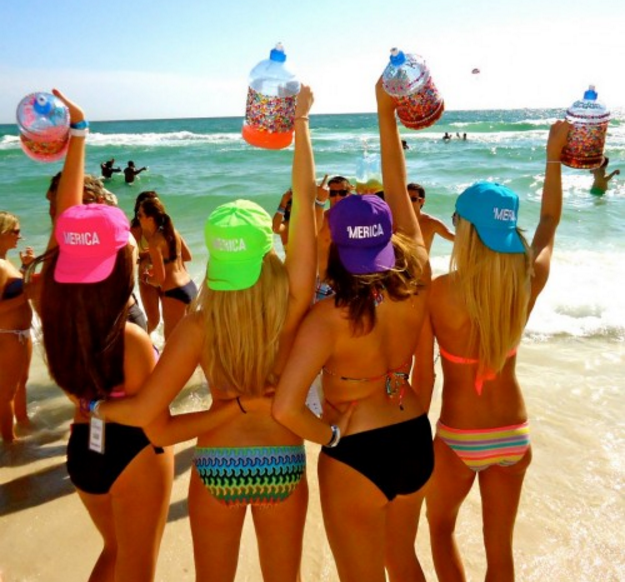 Girls on Spring Break