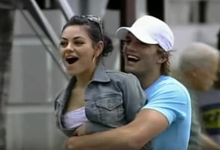 Ashton Kutcher Mila Kunis Being Cute