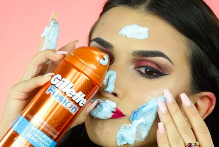 This Girl Taking Off Her Makeup With Shaving Gel Is Straight Up Uncomfortable To Watch