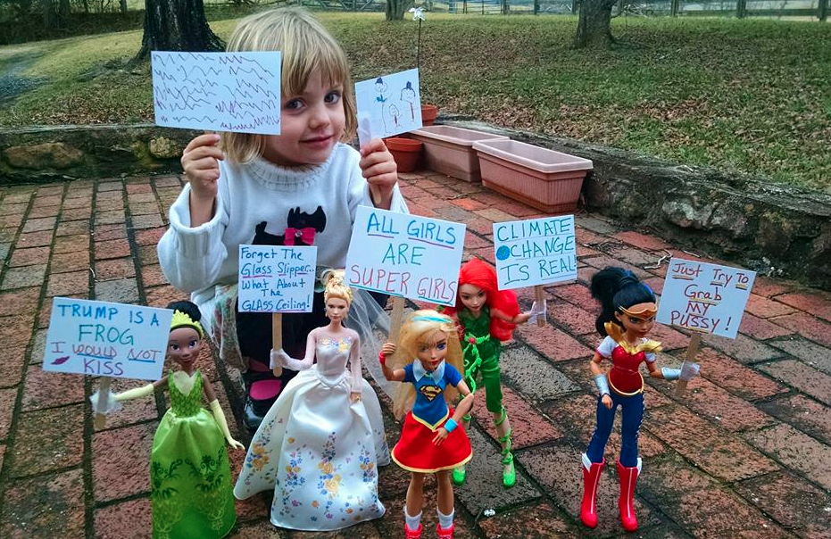The Women's March On Washington Recreated With Barbie Dolls Is Everything