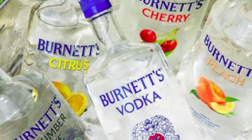 I'll Never Forget My First Love, Burnett's Vodka