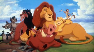 THE LION KING, Banzai, Ed, Shenzi, Scar, Pumbaa, Mufasa, Simba, Timon, 1994